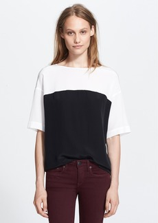 Vince Colorblock Silk Tee