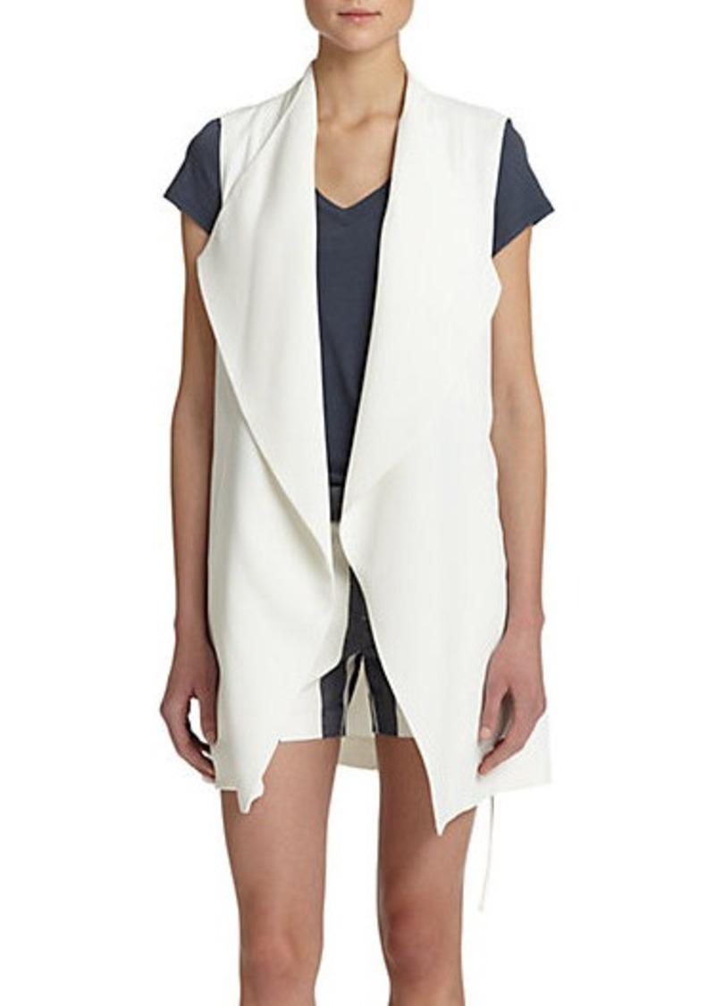 Vince vince crepe long draped vest casual shirts shop for Vince tee shirts sale