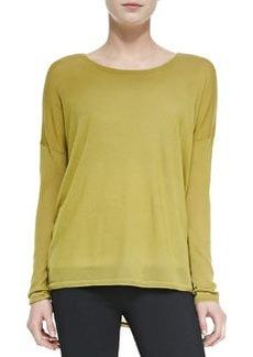 Vince Crewneck Long-Sleeve Sweater, Chartreuse