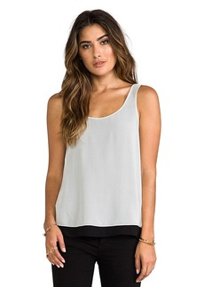 Vince Double Layer Tank in White