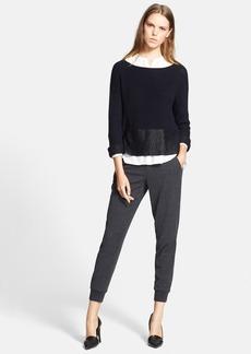 Vince Foil Print Boatneck Sweater
