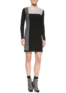 Vince Geometric Intarsia Cashmere Long-Sleeve Sweaterdress