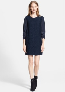 Vince Lace Overlay Shift Dress