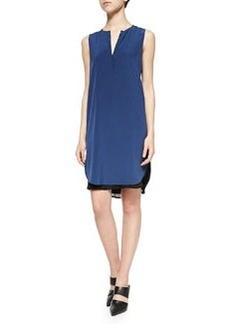 Vince Layered Sleeveless Silk Dress