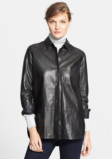 Vince Leather Button Down Shirt