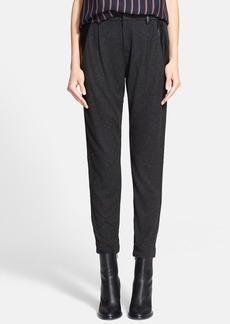 Vince Leather Trim Relaxed Trousers