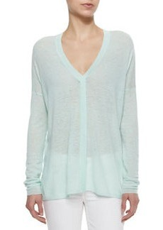 Vince Lightweight Slub-Knit Loose Top