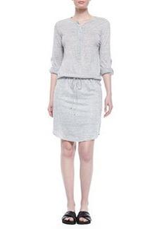 Vince Linen-Slub Drawstring Dress