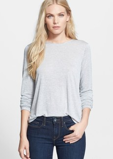 Vince Long Sleeve Shirttail Knit Top