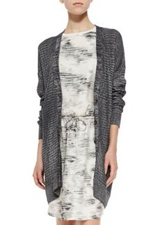 Vince Metallic Knit Button-Front Cardigan