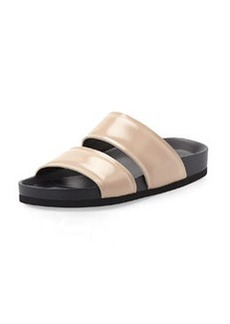 Vince Orion Leather Double-Band Slide, Nude