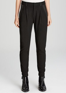 Vince Pants - Leather Trim Relaxed
