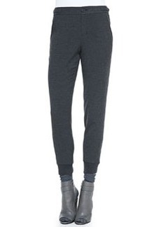Vince Ribbed-Cuff Tapered Trousers