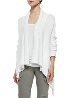 Vince Ribbed Knit Draped Cardigan