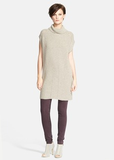 Vince Ribbed Wool & Cashmere Cowl Neck Tunic