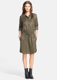 Vince Rolled Sleeve Cargo Dress