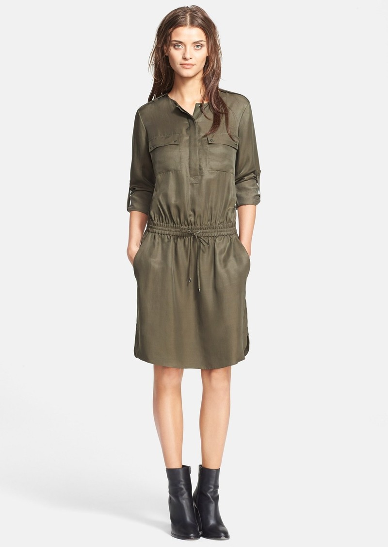 Vince Vince Rolled Sleeve Cargo Dress
