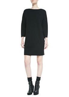 Vince Satin-Back Sweaterdress