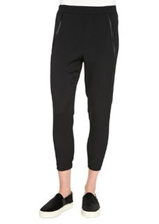 Vince Satin-Piped Wrapped-Seam Pants