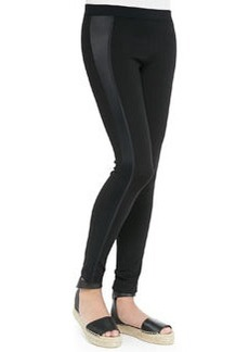 Vince Satin-Side Stretch Leggings