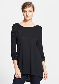 Vince Seamed Long Sleeve Crewneck Top