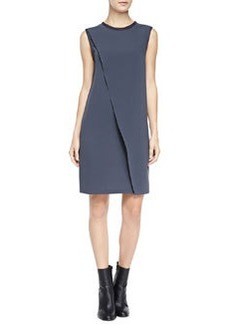 Vince Sleeveless Asymmetric Laser-Cut Dress