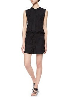 Vince Sleeveless Button-Front Romper