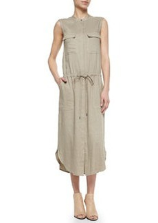 Vince Sleeveless Drawstring-Waist Cargo Dress