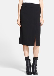 Vince Straight Crepe Skirt