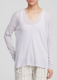 Vince Sweater - Mixed Stitch V Neck