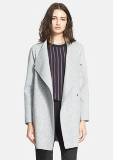 Vince Sweater Back Drape Neck Coat
