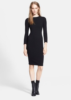 Vince Three Quarter Sleeve Bouclé Sheath Dress