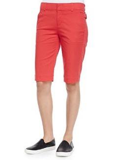 Vince Twill Bermuda Shorts, Tomato