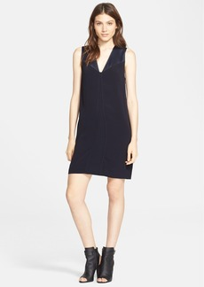 Vince V-Neck Matte & Shine Dress