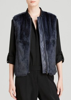 Vince Vest - Quilted Leather and Fur