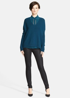 Vince Wool & Cashmere Double V Chevron Sweater