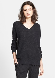 Vince Wool & Cashmere Double V-Neck Sweater