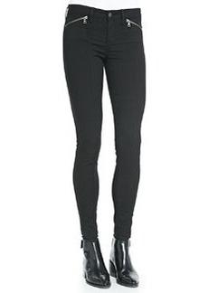 Vince Zip-Pocket Skinny-Leg Jeans, Black
