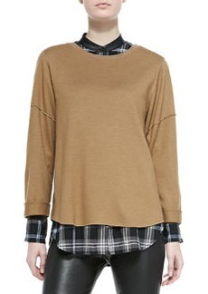 Wool Rolled-Sleeve Tee   Wool Rolled-Sleeve Tee