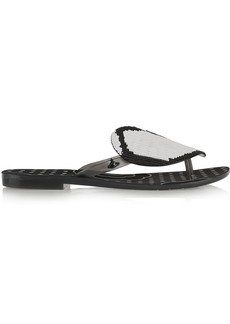 Vivienne Westwood Anglomania + Melissa Harmon rubber flip-flops
