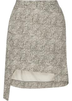 Vivienne Westwood Anglomania Asymmetric coated silk-bourette mini skirt