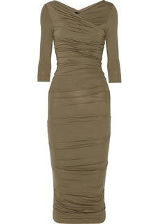 Vivienne Westwood Anglomania Deity ruched stretch-jersey dress