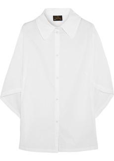 Vivienne Westwood Anglomania Hero dolman-sleeve cotton-poplin shirt