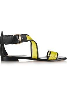 Vivienne Westwood Anglomania Leather and mesh sandals