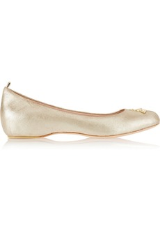 Vivienne Westwood Anglomania Metallic leather ballet flats