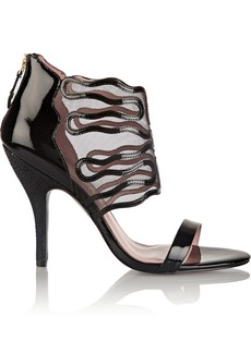 Vivienne Westwood Anglomania Patent-leather and mesh sandals