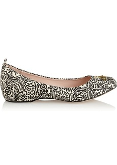 Vivienne Westwood Anglomania Printed canvas ballet flats