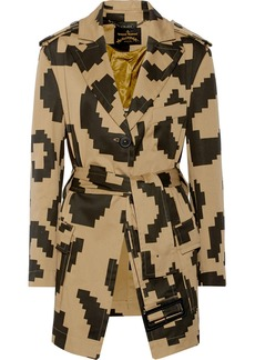 Vivienne Westwood Anglomania Printed cotton-blend trench coat