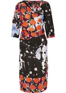 Vivienne Westwood Anglomania Printed satin-crepe dress