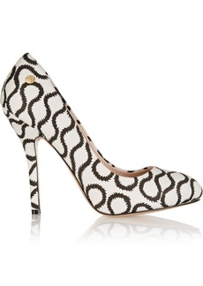 Vivienne Westwood Anglomania Printed twill pumps
